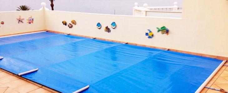 Zwembadafdekking met buizen Key-Doek